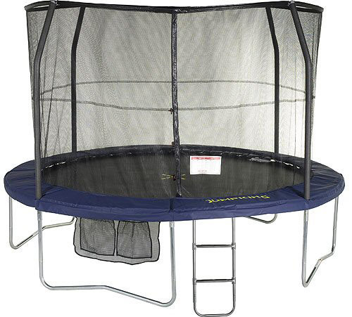 "Jumpking 14ft Jumppod Deluxe Trampoline With Enclosure: 1.5m By 1.5m Playground ""Loop"" Trampoline"