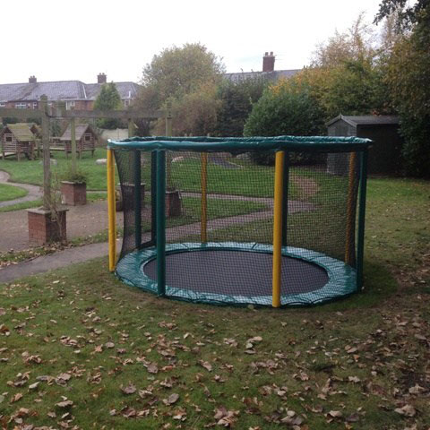 playground trampoline sunken trampoline