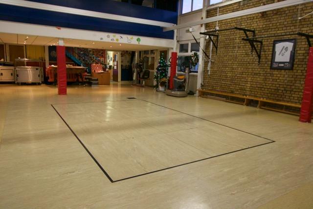 schools rebound therapy sunken trampoline