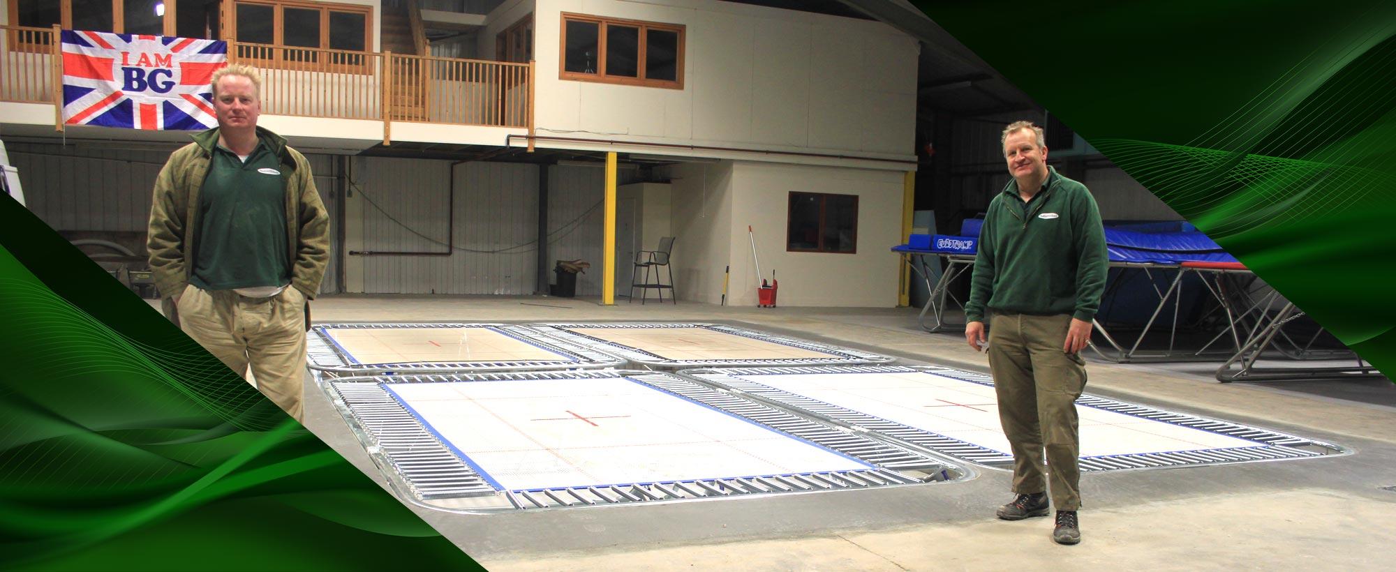 sunken trampoline in ground trampoline