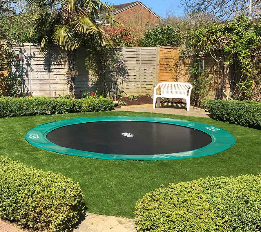 sunken trampoline in ground trampoline berg