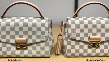 a6523d6c4bd6 How to spot a FAKE Louis Vuitton Croisette Bag  A Detailed Review   Side by