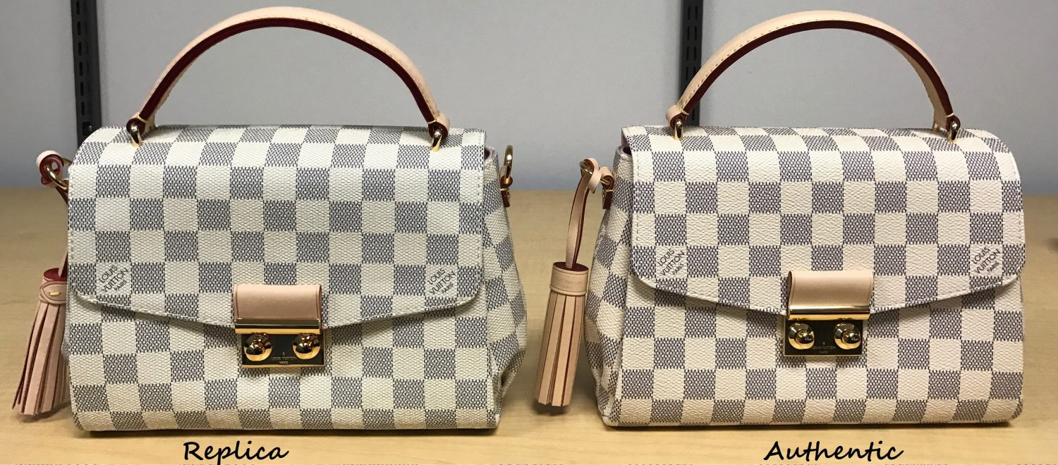 1d8978961d How to spot a FAKE Louis Vuitton Croisette Bag  A Detailed Review   Side by  Side Comparison