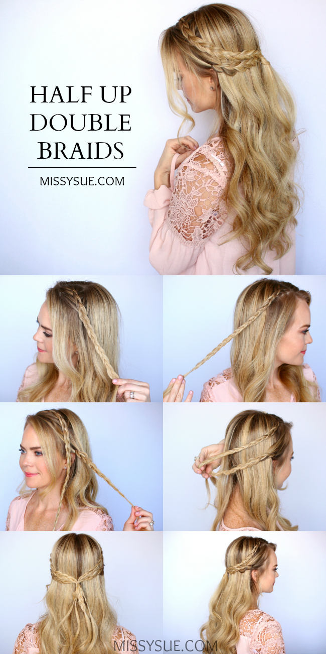 8. Braid Wrapped Side Ponytail