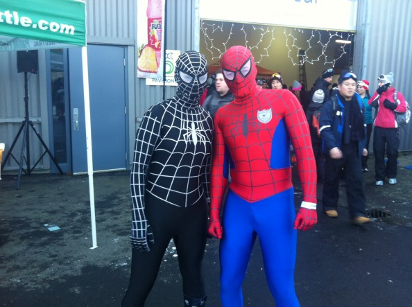 spidy and venom came out to play