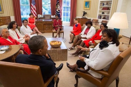 our national and past presidents having an audience with POTUS