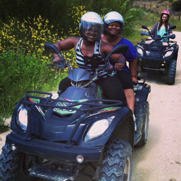 hitting the trails on the 4-wheeler