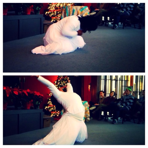 picture courtesy of pastor gail song bantem of me dancing in the 11 am service