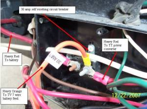 Battery Area 12 Volt Junction Box Wiring  Sunline Coach