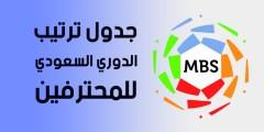 جدول ترتيب الدوري السعودي للمحترفين .. بعد أنتهاء الجولة 29 من الدوري السعودي