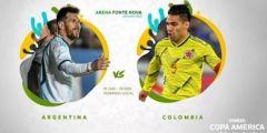 القنوات المفتوحة الناقلة لمباراة الأرجنتين ضد كولومبيا كوبا أمريكا 2019