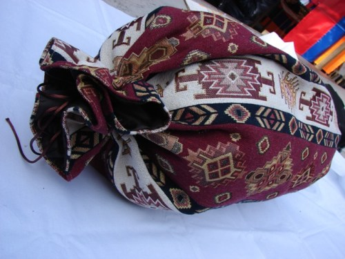 Round Bolster Pillow Cover Ethnic, Sofa Carpet Cushion, Armenian Mutaka