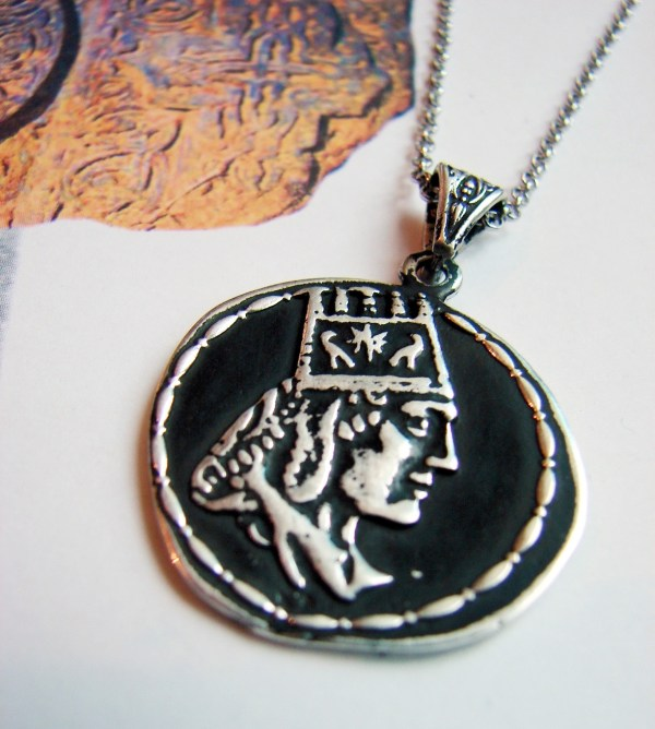 Pendant Tigran the Great King of Armenia, Sterling Silver 925,
