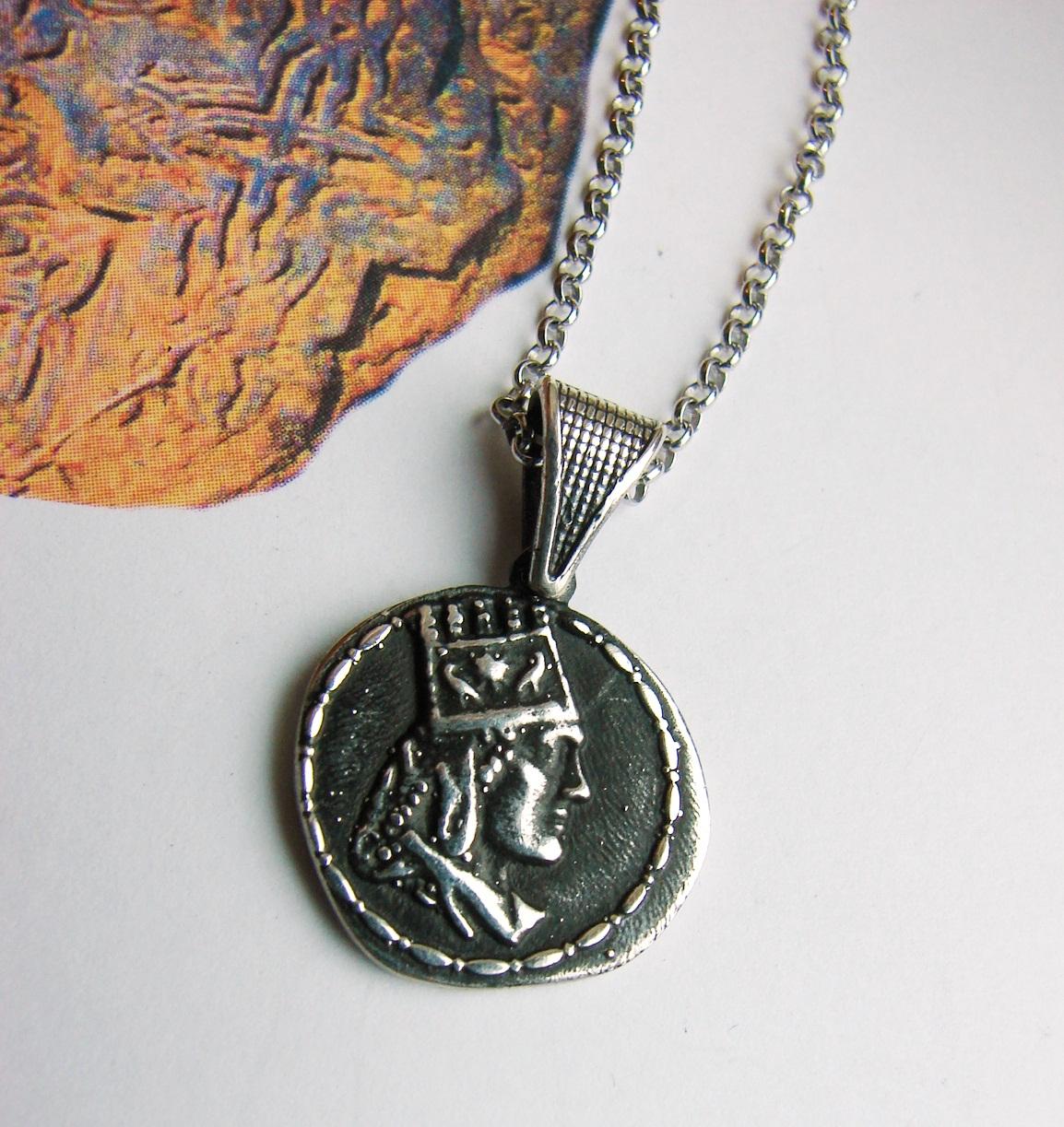 Pendant Tigran the Great King of Armenia, Sterling Silver 925,
