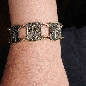 Wide Linked Bracelet Sterling Silver 925