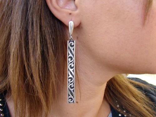 Long Earrings Sterling Silver 925, Ethnic Style, Party Earrings