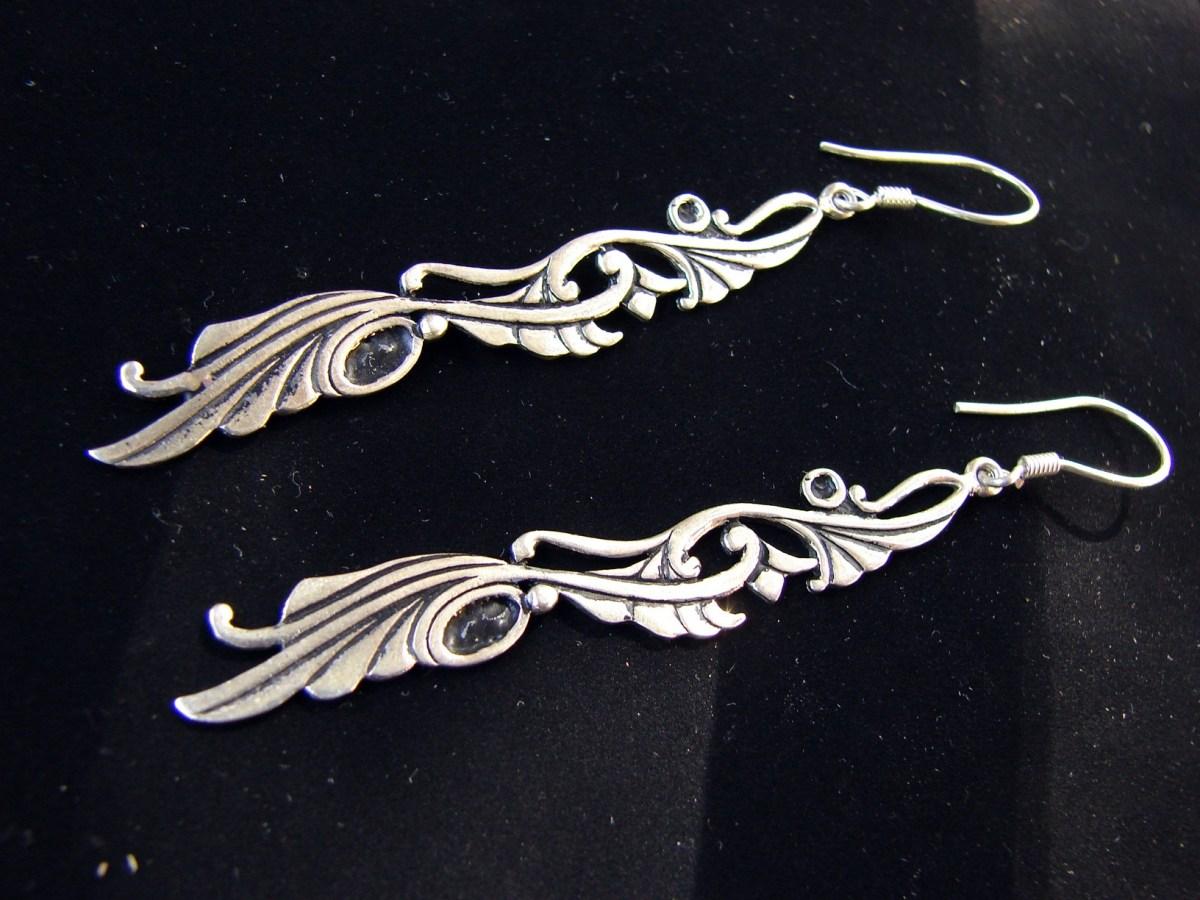 Long Earrings Sterling Silver 925