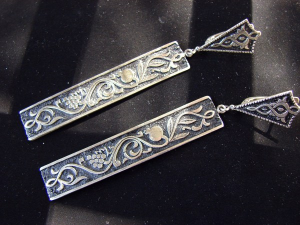Long Earrings Sterling Silver 925