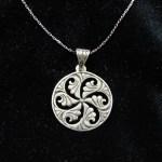 Pendant Wheel of Eternity Sterling Silver 925 in Pomegranate Armenian Symbol