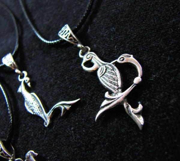 Initial Armenian Letter Charm Pendant, Armenian Bird Letters Trchnagir