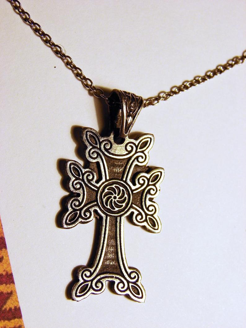 Armenian Cross Sterling Silver 925