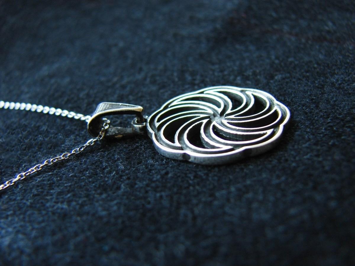 Pendant Wheel of Eternity Sterling Silver 925, Armenian Symbol