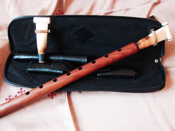 Armenian Professional Duduk Apricot Wood in Hard Case, Musical Instrument Doudouk, Key A, B, C, D, F, G, H