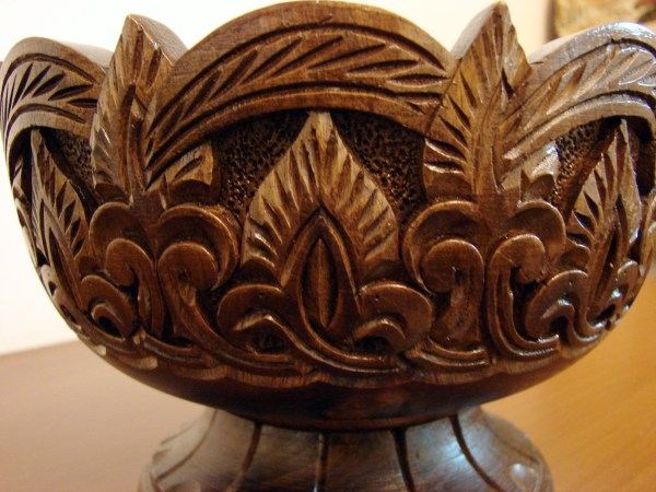 Hand Carved Natural Wooden Bowl,Vase