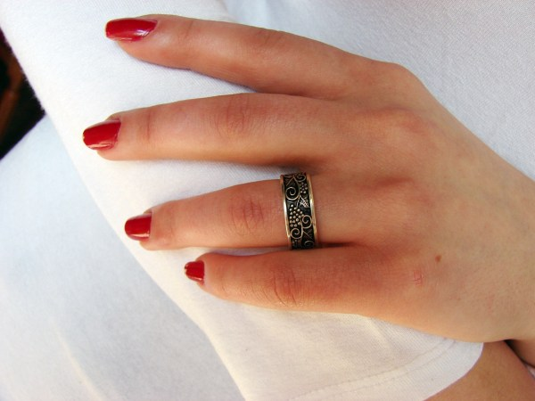 Set of Silver earrings and Ring