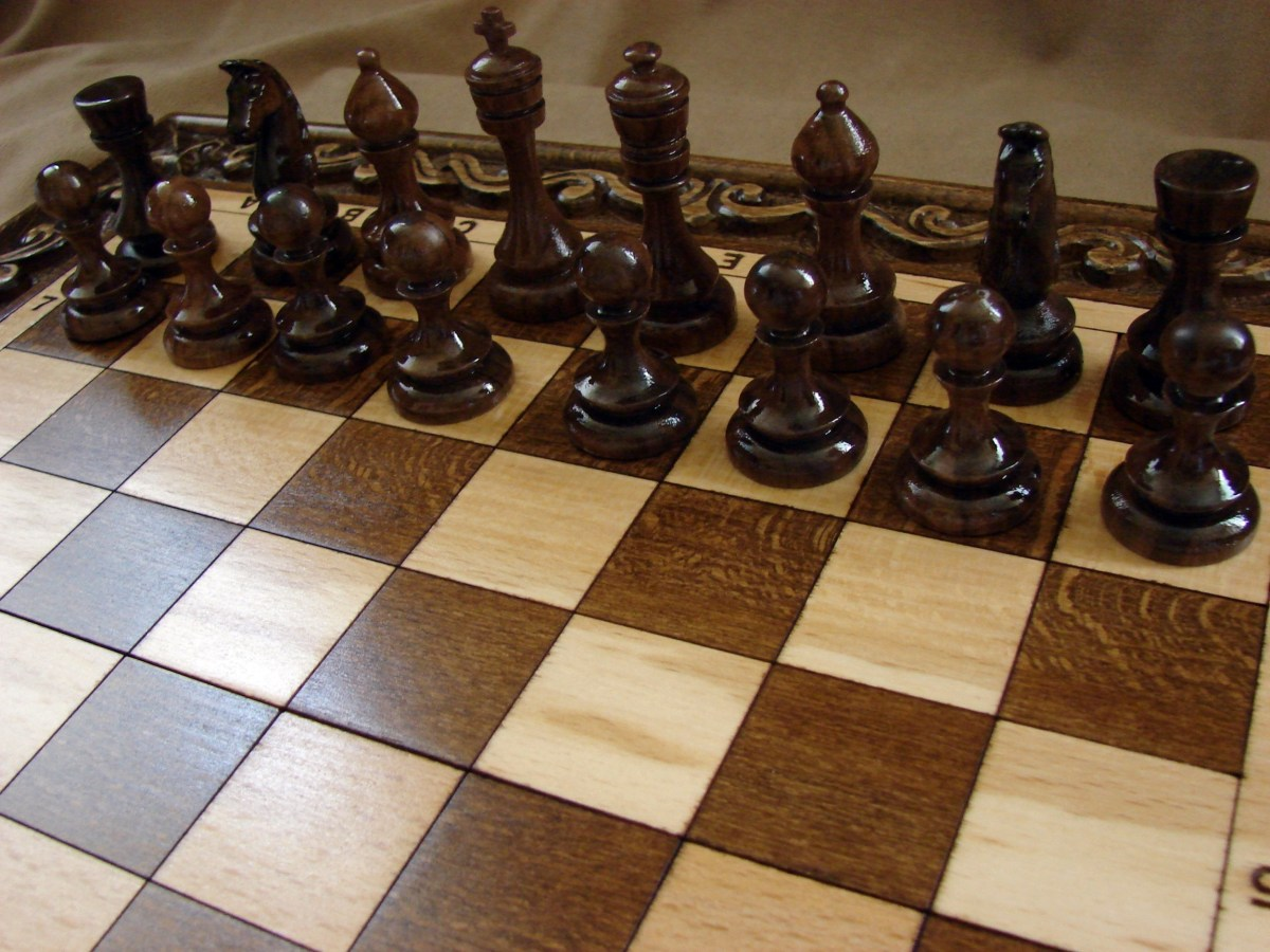 Wooden Chess Board and pieces Hand Carved