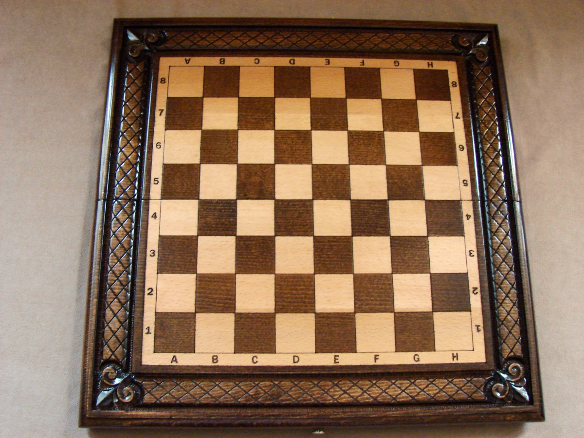 Handmade Chess Board, Wooden, 3 in one
