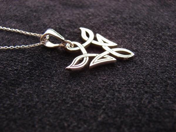 Elvish Pendant Fantasy Celtic Design Sterling Silver 925