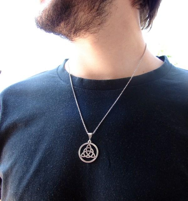 Pendant Celtic Knot Triquetra Sterling Silver 925