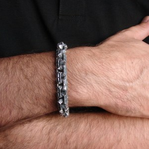 Men Heavy Bracelet Sterling Silver 925 Curb Chain