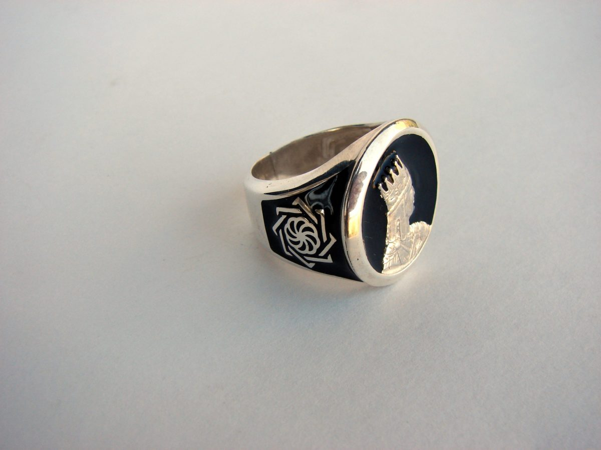 Ring for Men Tigran the Great King of Armenia, Sterling Silver 925