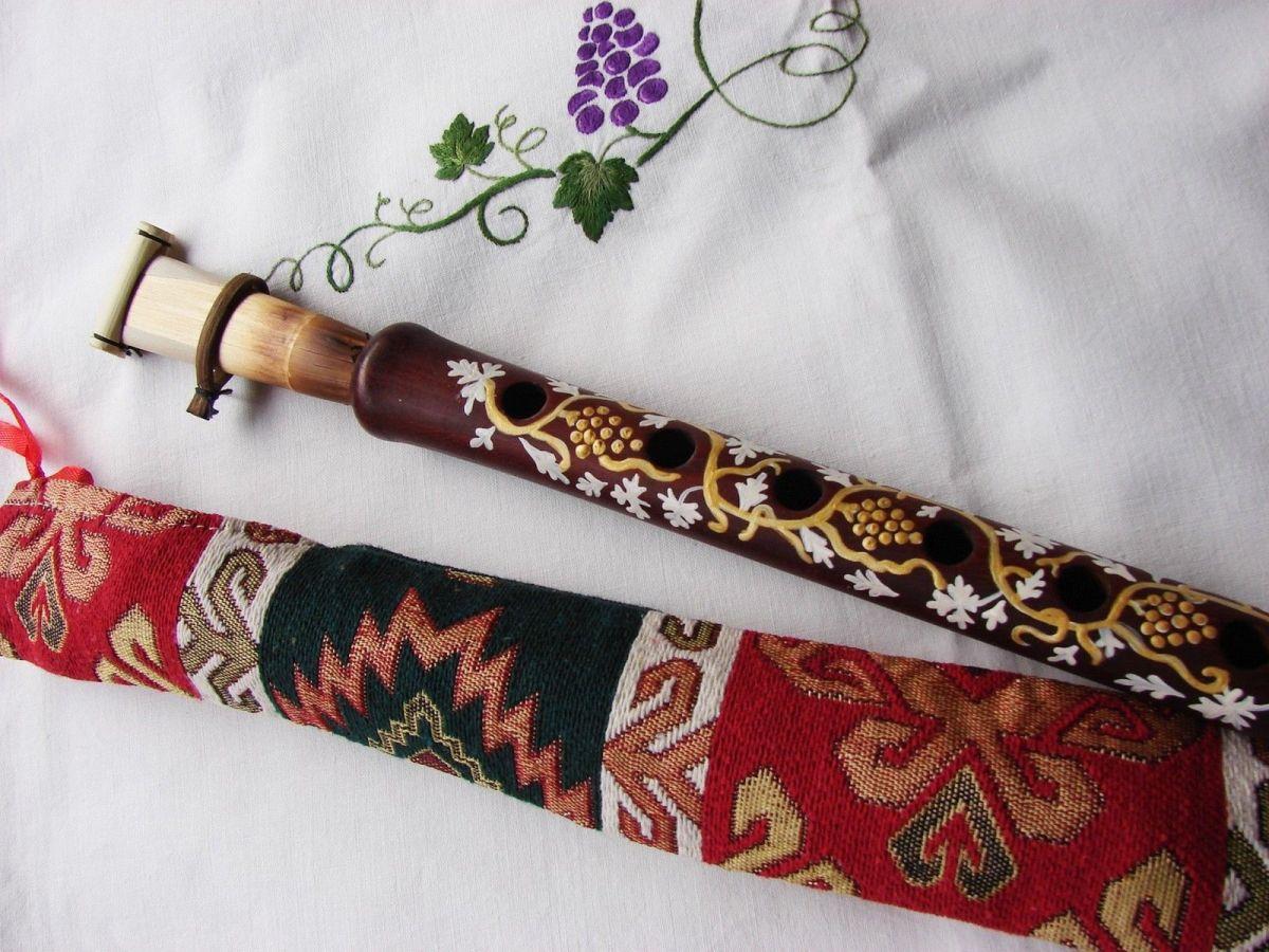 Armenian DUDUK Hand Painted, Apricot Wood
