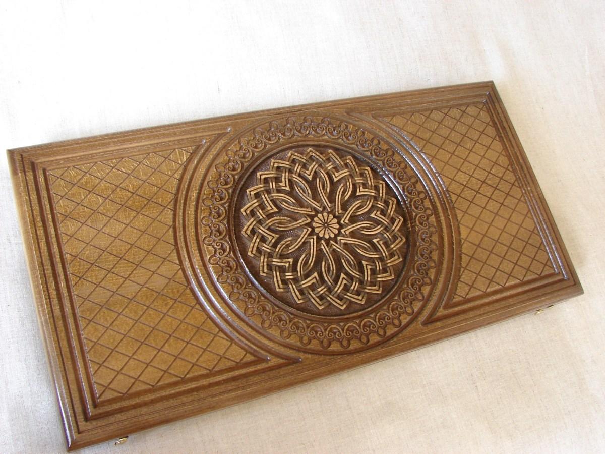 Backgammon Game Board, Wooden Handmade Armenian Nardi Nardy