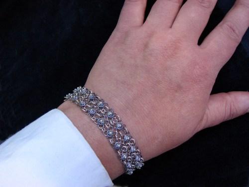Filigree Bracelet Sterling Silver 925, Linked Bracelet