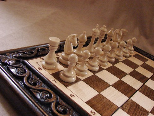 Large Wooden Chess Set Board