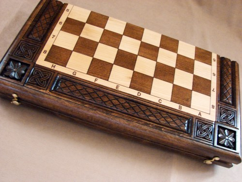Chess Board Set made of Wood 3 in 1