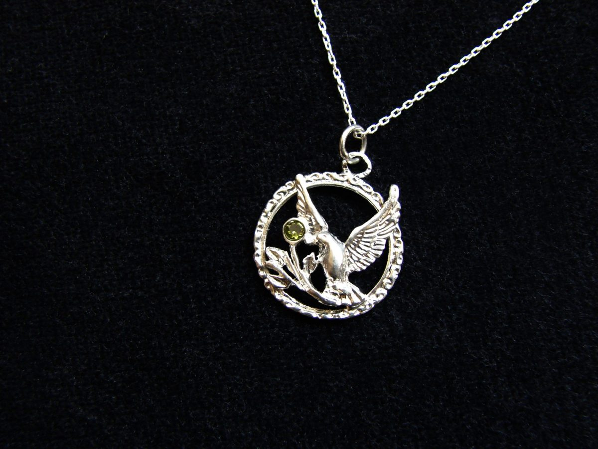 Holly Spirit Dove Necklace Sterling Silver 925