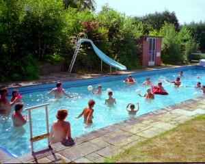 Splashing time in the pool