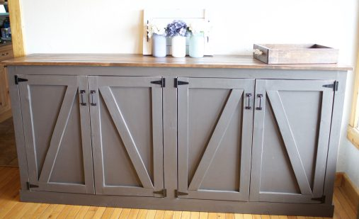 Diy Rustic Sideboard Locker Cabinet