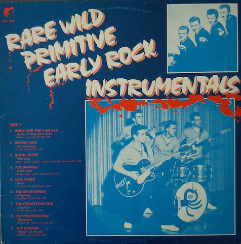 Various – Rare Wild Primitive Early Rock Instrumentals : 50s – 60s Surf Rock & Roll Music Collection Album