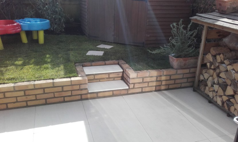 Sunny Gardens | Patio, Brick Wall and Turfing
