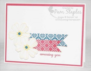 Handmade clean and simple flower shop card