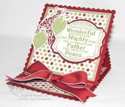 Ornament Keepsake Easel Card