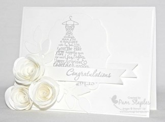 Love & Laughter White Wedding Card