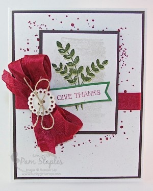 Give Thanks For All Things Handmade Card by Pam Staples. #stampinup #forallthings #pinworthy #greetingcard