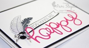 Handmade card by Pam Staples featuring the Hello You Thinlits and Crazy About You Stamp Set. #sunnygirlscraps #pamstaples #stampinup #pp228 #HSS203